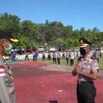 Kapolres Nunukan Pimpin Upacara Kenaikan Pangkat Kompol Marsunu