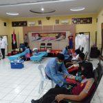 Peduli Kemanusian, Anggota Polres Nunukan Kembali Donorkan 25 Kantong Darah