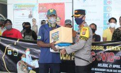 Polres Nunukan Bersama TNI Distribusikan 250 Paket Sembako