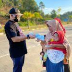 Wabup Rutin Bagikan Masker dan Bubarkan Kumpulan Warga