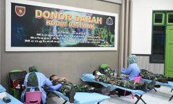 Kodim 0911/Nnk Gelar Donor Darah untuk Stok PMI