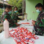 Hindari Kerumunan di Masa Pandemi Corona, Kodim Tarakan Bagikan 1.113 liter Sabun Cair