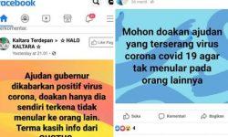 Hoaks Ajudan Gubernur Kaltara Positif Covid-19