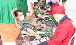 34 Kantong Darah dari Prajurit TNI di Korem 091/ASN Bantu Minimnya Stok Darah PMI