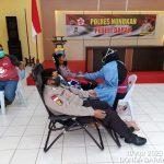 Pandemi Corona, Donor Darah Polisi di Nunukan Jalan Terus