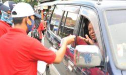 Ikut Lawan Corona, Difabel Binaan Pertamina Produksi & Bagi Masker di Tarakan