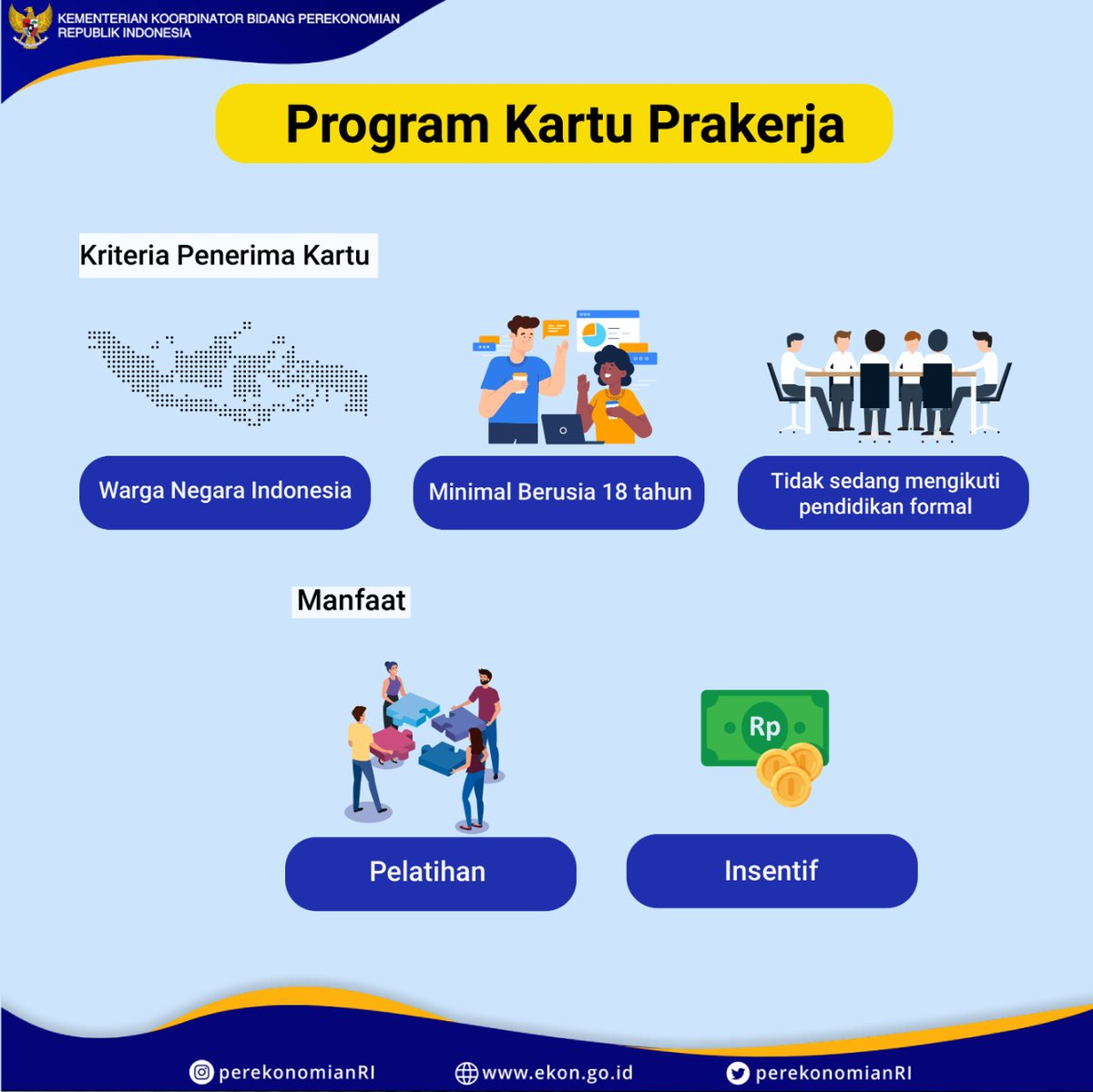Pemerintah Percepat Implementasi Kartu Prakerja