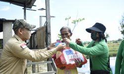 Persit Kodim 0911/Nnk dan BRI Nunukan Bagikan Paket Sembako