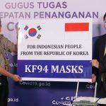 Pemerintah Korea Kembali Serahkan Bantuan 500 Ribu Masker