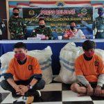 TNI-AL Nunukan Serahkan Tersangka dan 15 Karung Pakaian Bekas Selundupan ke Bea Cukai