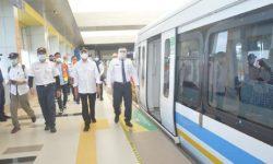 Menhub Cek konektivitas dan Efektivitas Transportasi Saat Pandemi di Palembang
