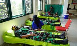 Stok di PMI Langka, Korem 091/ASN Gelar Donor Darah