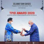 TPID Pemprov Kaltim Raih Award 2020