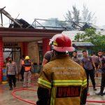 Kantor Subdit Gakkum Ditpolair Polda Kaltim di Balikpapan Hangus Terbakar