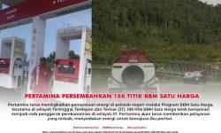 Pertamina Sudah Persembahkan 188 Titik BBM Satu Harga