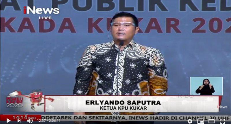 KPU Kukar Puas dengan Debat Publik Ke-2 Paslon Bupati dan Wakil Bupati Kukar