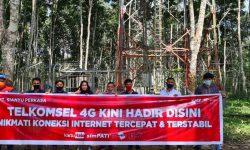 Telkomsel Tancapkan BTS 4G, Satu-satunya di Desa Rantau Atas Kabupaten Paser