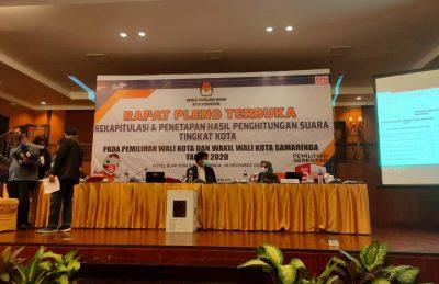Rapat Pleno KPU Samarinda Dilaksanakan Dalam Kemungkinan Komisioner Positif COVID-19