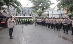 Ratusan Personel Polresta Samarinda Amankan Rekapitulasi Penghitungan Suara Tingkat KPU