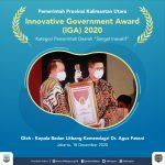 Lagi Kaltara Dapat Penghargaan, Kali Ini Innovative Government Award 2020