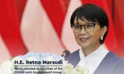 Retno Marsudi Terpilih Pimpin Kerjasama Vaksin Multilateral COVAX-AMC EG