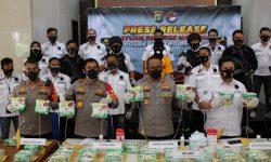 Polres Depok Gagalkan Penyelundupan 46 Kg Sabu