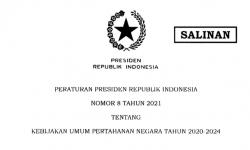 Jokowi Teken Perpres Tentang Kebijakan Umum Pertahanan Negara 2020-2024