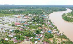 Buaya Dilaporkan Muncul di Kawasan Banjir di Sembakung