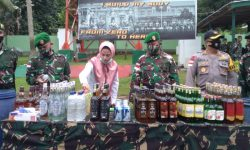 Brigjen TNI Suratno Pimpin Pemusnahan 687 Miras Ilegal Sitaan Satgas Pamtas