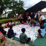 TNI/Polri & Relawan Dirikan Posko, Beri Pemulihan Trauma Korban Kebakaran Inhutani