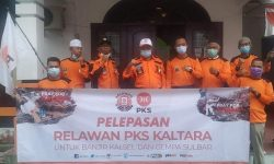 PKS Kaltara Kirim Relawan ke Lokasi Bencana Gempa Sulbar dan Banjir di Kalsel