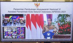 Buka Munas Apeksi, Presiden Minta Pemda Perbanyak Program Padat Karya