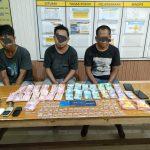 Tiga Warga Samarinda Diciduk di Kukar Saat Hitung Hasil Jualan Sabu Rp21,7 juta