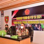 Rapat Koordinasi, Korem 091/ASN Mantapkan Persiapan TMMD ke-110 Tahun 2021