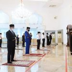 Presiden Jokowi dan PM Muhyiddin Yassin Tunaikan Salat Jumat di Masjid Baiturrahim