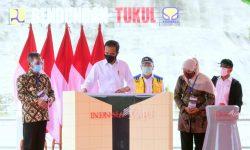 Presiden Jokowi Resmikan Bendungan Tukul di Pacitan, Jatim