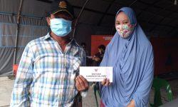 Gubernur Kaltara Bantu Korban Kebakaran Pasar Lama Nunukan Rp250 Juta