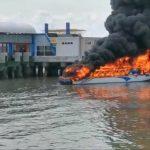 Pembuang Uap Minyak Meledak, Speedboat Dewa Sebakis III Terbakar di Tarakan