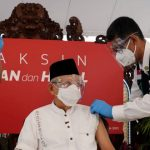 Wapres Ma'ruf Amin Terima Suntikan Vaksin COVID-19 Dosis Kedua