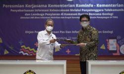Badan Geologi Gandeng Kominfo Launching SMS Alert Kebencanaan Geologi