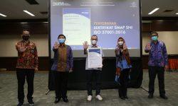 Pos Indonesia Raih Sertifikat SMAP SNI ISO 37001:2016