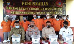 Polres Nunukan Komitmen Berantas Peredaran Sabu