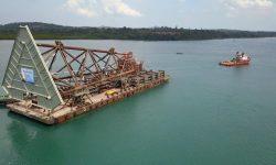 PHM Mulai Proses Sail Away Jacket Proyek 3 Anjungan Lepas Pantai Senilai USD 105 Juta