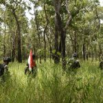 Patroli Patok Batas RI-PNG Satgas Yonif 611/Awl Pantang Surut Meski Diadang Hujan Lebat