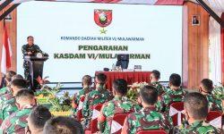 Kasdam VI Mulawarman ke Jajaran Kodim 0908/BTG : Terus Semangat, Sayangi Keluarga