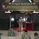 Korem 091/ASN Petik Hikmah Nuzulul Qur'an di Tengah Pandemi Corona