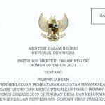 Mendagri Terbitkan Instruksi Mengenai Pelaksanaan PPKM Mikro di 25 Provinsi