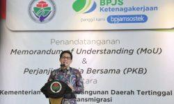 Kemendes PDTT Daftarkan Pendamping Desa Jadi Anggota BPJS Ketenagakerjaan