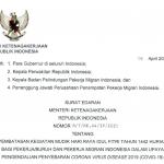 Menaker Terbitkan Edaran Pembatasan Mudik Bagi Pekerja dan PMI