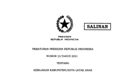 Presiden Jokowi Terbitkan Perpres 25/2021 tentang Kebijakan Kabupaten/Kota Layak Anak